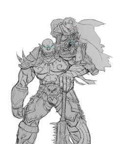 Lich King Anduin and Death Knight Garrosh