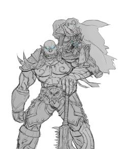 Lich King Anduin and Death Knight Garrosh